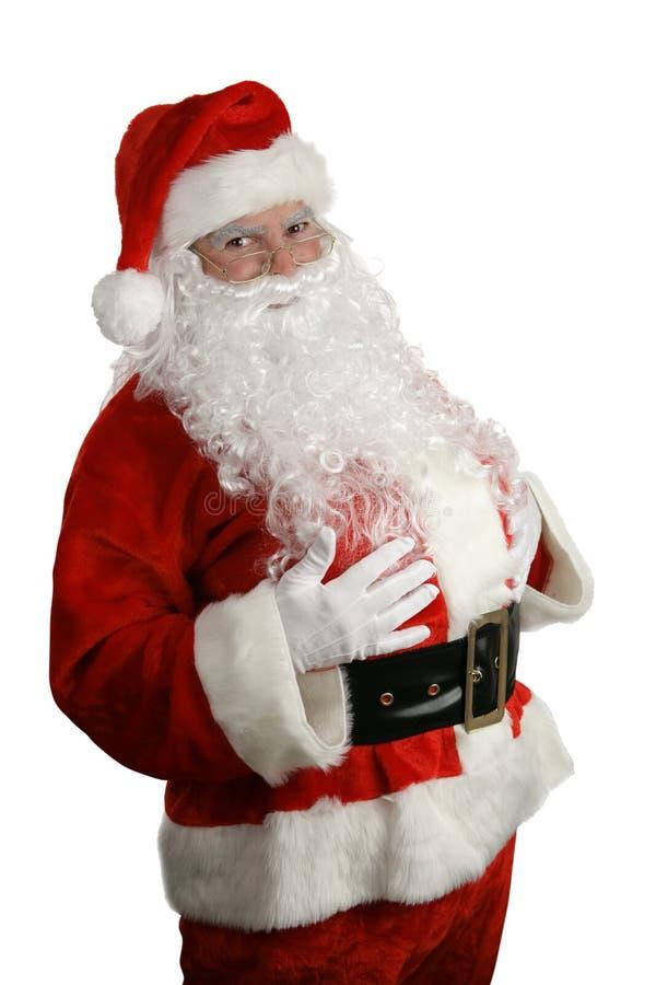La Navidad tradicional Santa fotos de archivo libres de regalías