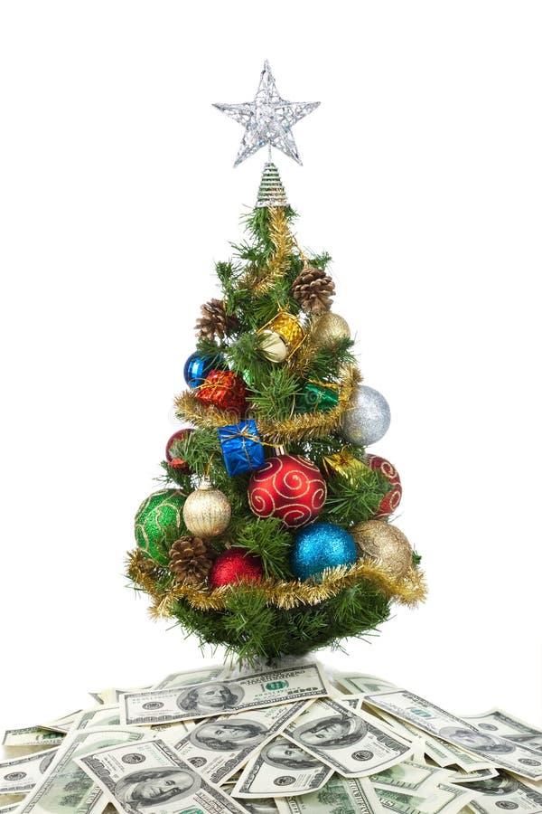 La Navidad tree&dollars-2 imágenes de archivo libres de regalías