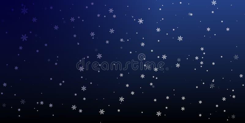 La Navidad un fondo con los copos de nieve que caen Vector imagen de archivo