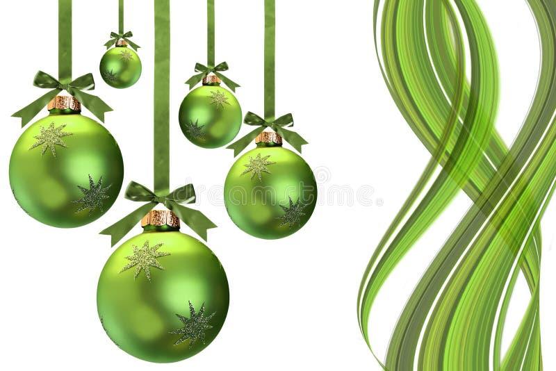La Navidad verde stock de ilustración