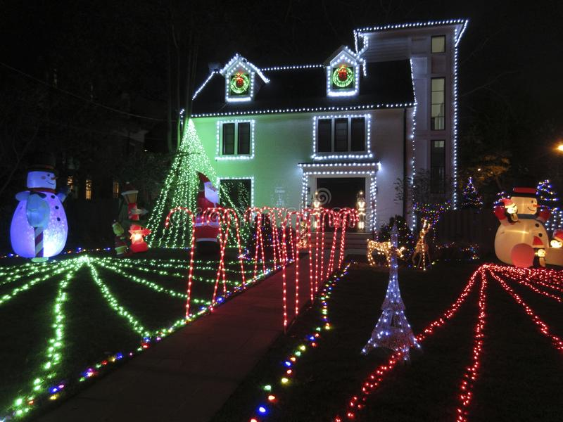 La Navidad viene temprano en noviembre al Washington DC imagen de archivo libre de regalías