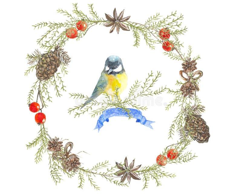 La Navidad wreath1 stock de ilustración