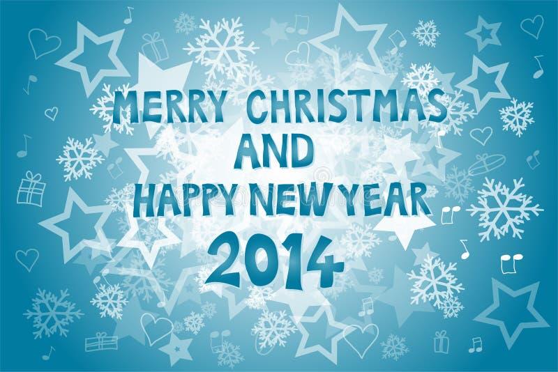 La Navidad y Año Nuevo 2014 ilustración del vector