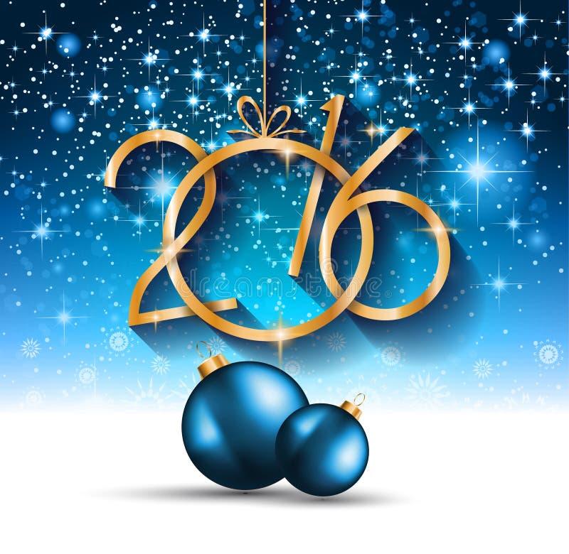 La Navidad 2016 y aviador del partido de la Feliz Año Nuevo ilustración del vector