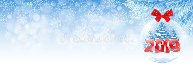 La Navidad y cubierta de Facebook del Año Nuevo libre illustration