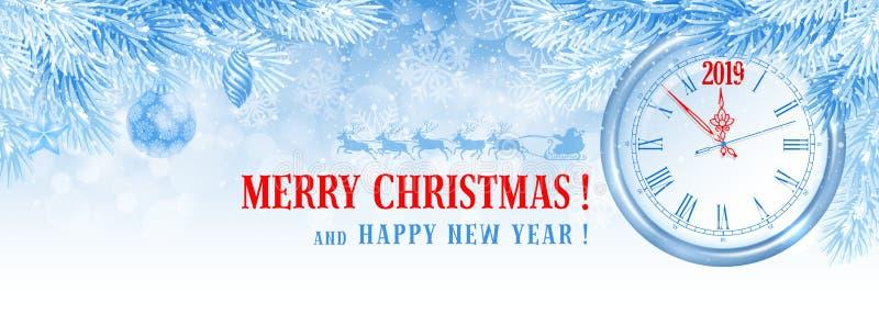 La Navidad y cubierta de Facebook del Año Nuevo stock de ilustración