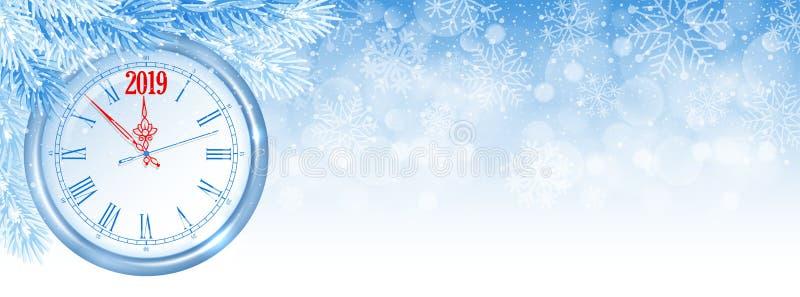 La Navidad y cubierta de Facebook del Año Nuevo ilustración del vector