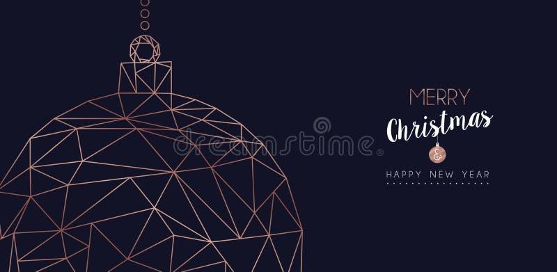 La Navidad y el Año Nuevo resumen la bandera del web de la chuchería libre illustration