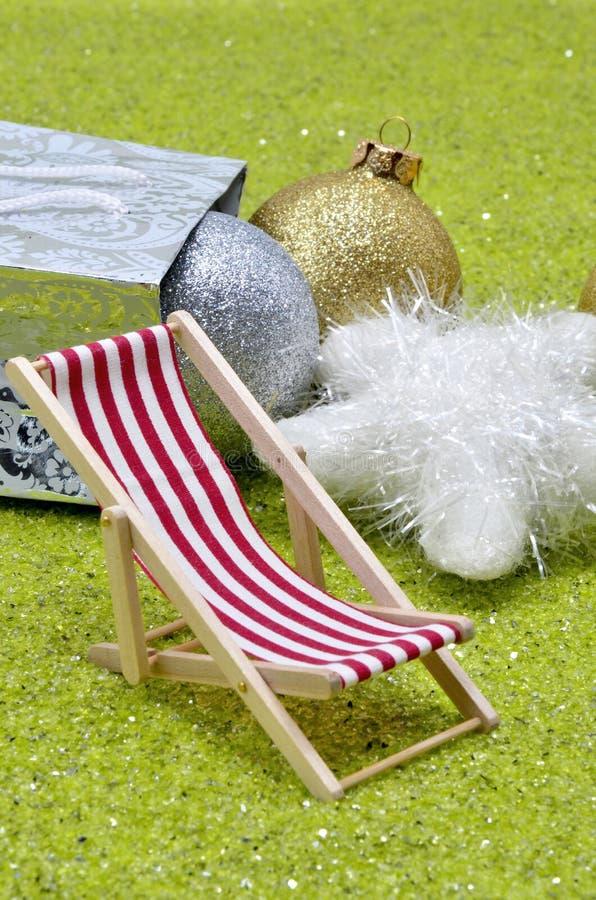 La Navidad y playa imagen de archivo