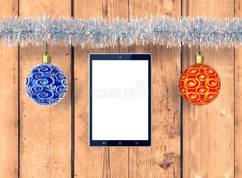 La Navidad y tecnología stock de ilustración