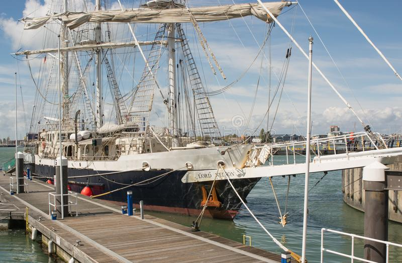 La navigation embarquent Lord Nelson à Portsmouth, Angleterre photo stock