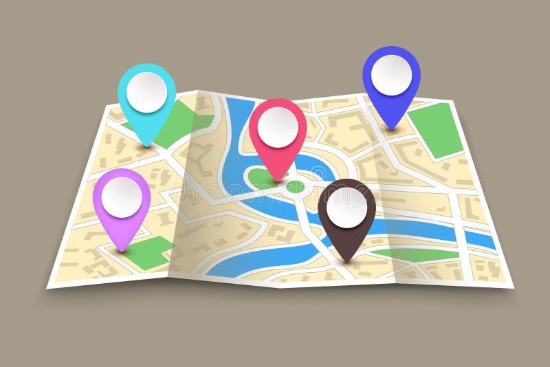 La navigation a placé 02 illustration de vecteur
