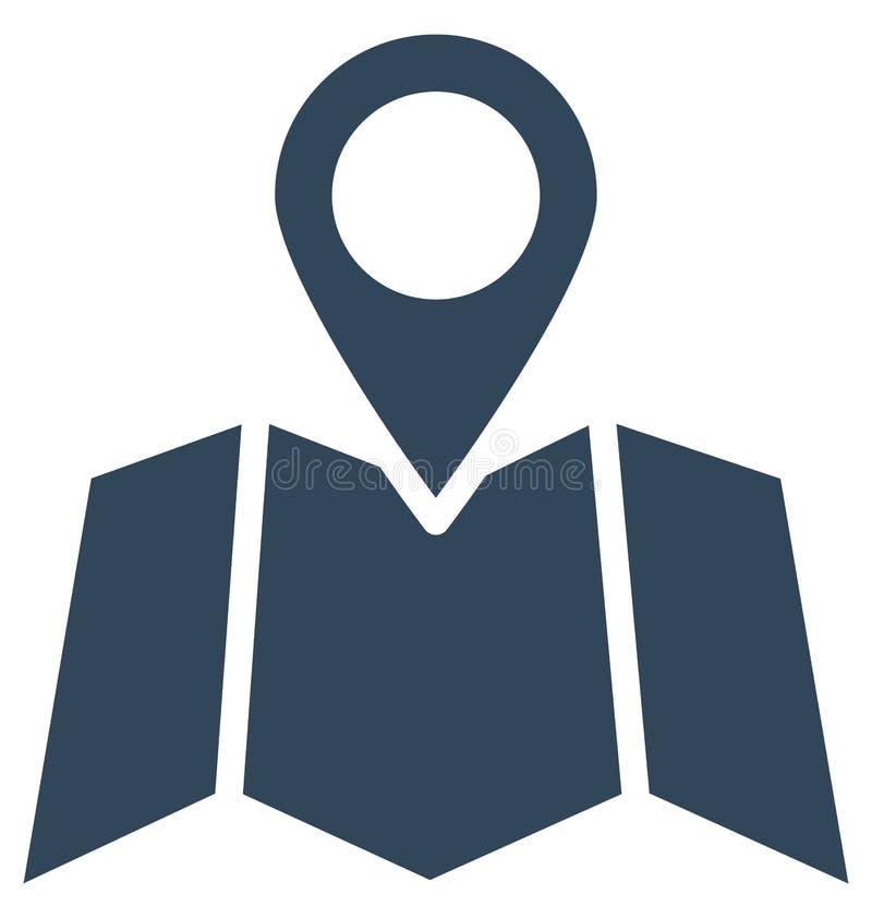 La navigazione di indirizzo ha isolato l'icona di vettore che pu? modificare o pubblicare facilmente illustrazione di stock