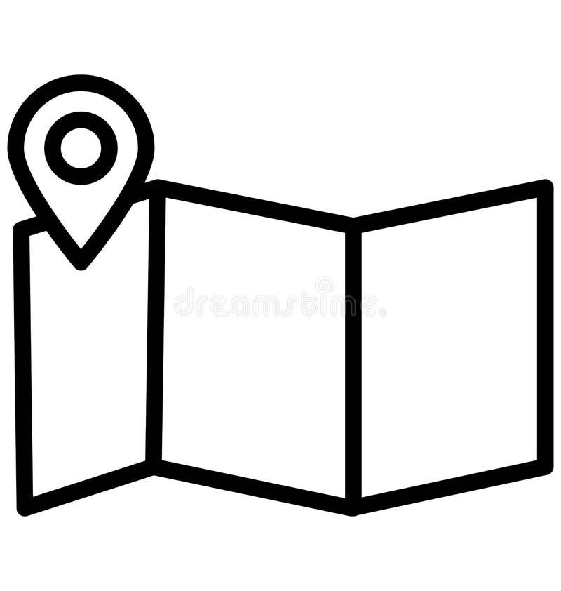 La navigazione di indirizzo ha isolato l'icona di vettore che pu? modificare o pubblicare facilmente illustrazione vettoriale
