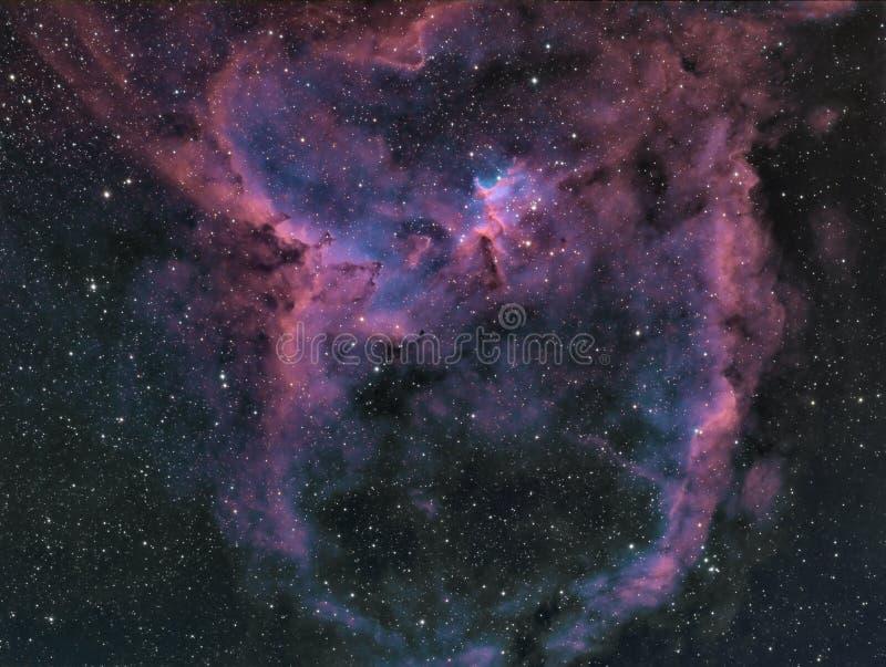 La nebulosa del cuore fotografia stock