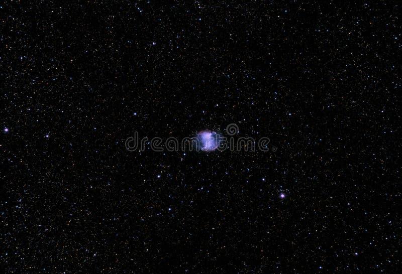 La nebulosa della testa di legno anche conosciuta come la nebulosa del centro di Apple, 27 più sudici, la m. 27, o NGC 6853 fotografie stock libere da diritti