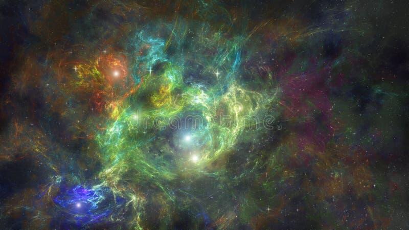 La nebulosa e le stelle nello spazio profondo royalty illustrazione gratis