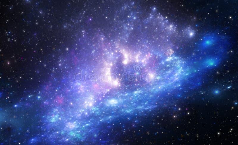 La nebulosa es un lugar donde están nacidas las nuevas estrellas stock de ilustración