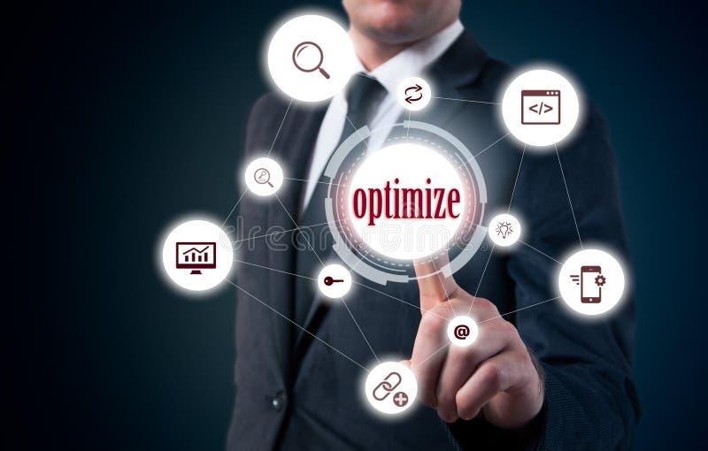 La necessità di ottimizzare content management Sostenibilità e sviluppo di affari immagini stock libere da diritti
