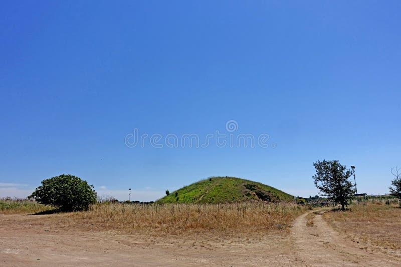 La necrópolis de Etruscan de Cerveteri foto de archivo libre de regalías