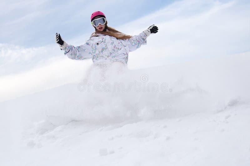 La neige éclabousse images stock