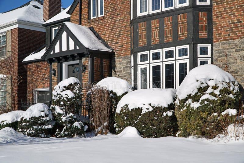 La neige a couvert la Chambre images libres de droits
