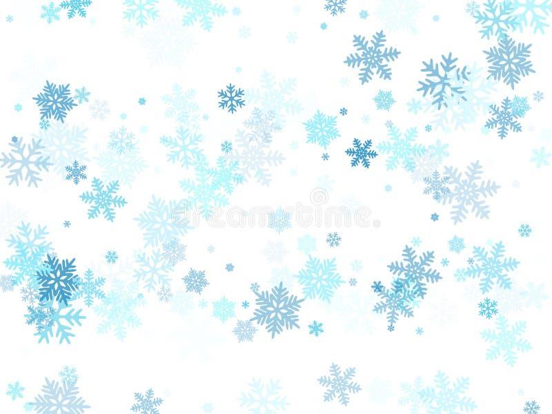 La neige s'écaille de macro graphiques de vecteur en baisse, flocons de neige de Noël illustration de vecteur