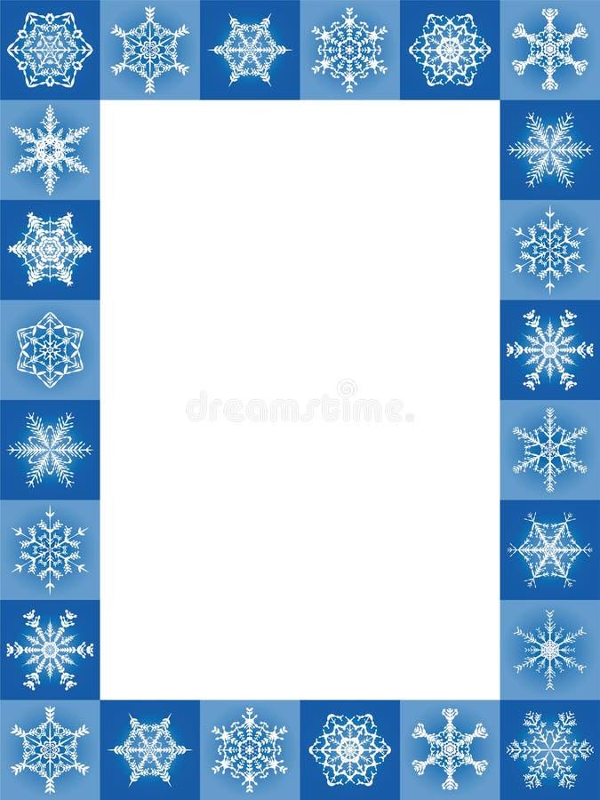 La neige s'écaille Noël bleu vertical de cadre illustration libre de droits