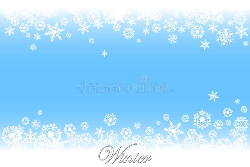 La neige s'écaille simple illustration stock