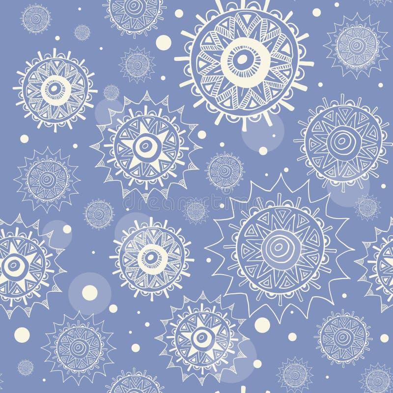 La neige sans joint s'écaille configuration de vecteur illustration libre de droits