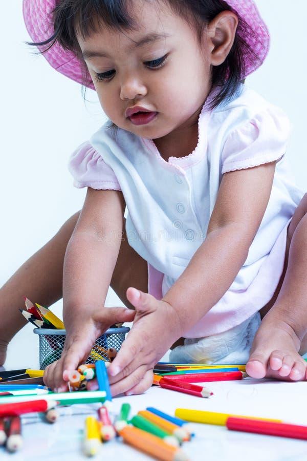 La neonata è felice immagini stock libere da diritti