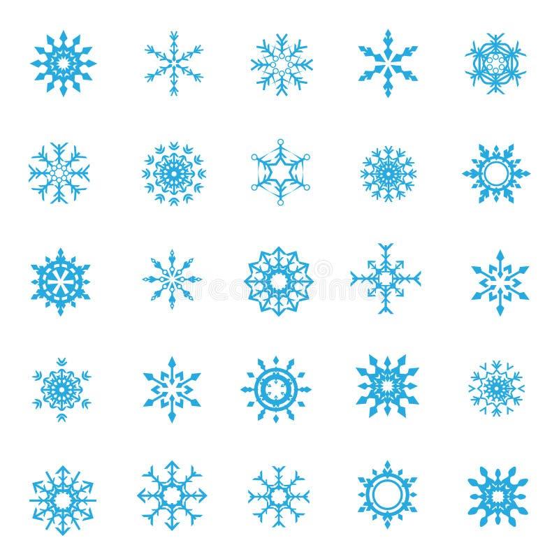 la neve 008-Christmas si sfalda 004 illustrazione di stock
