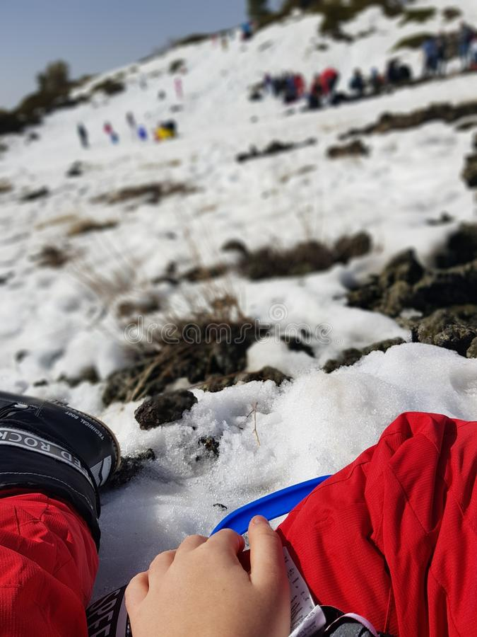 la neve molle gradisce la crema immagini stock libere da diritti