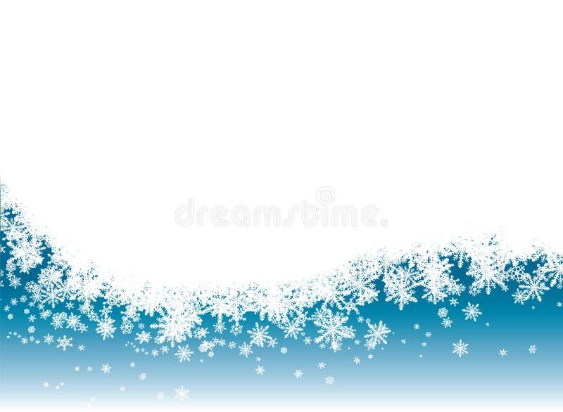 La neve rivela illustrazione vettoriale