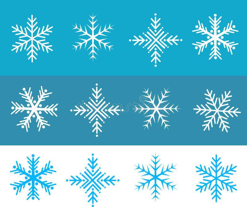 La neve si sfalda vettore illustrazione di stock