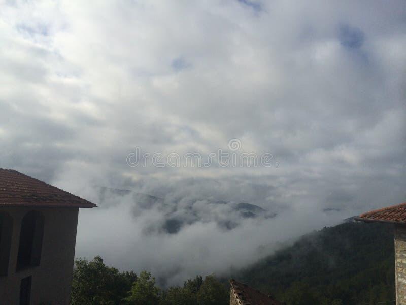 La niebla de la mañana adentro imagen de archivo libre de regalías