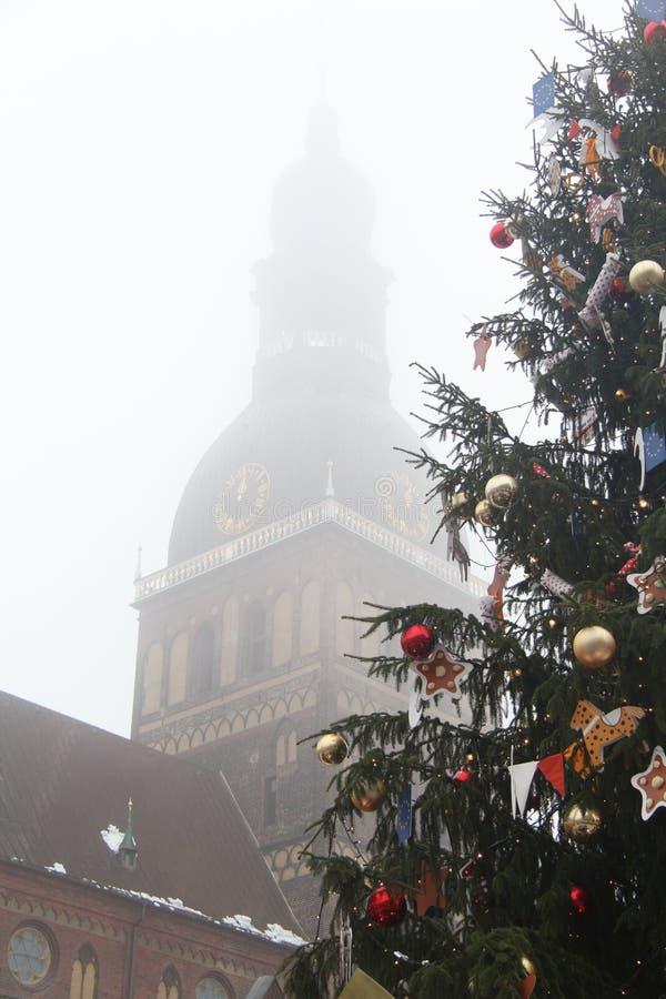 La niebla de la Navidad fotografía de archivo