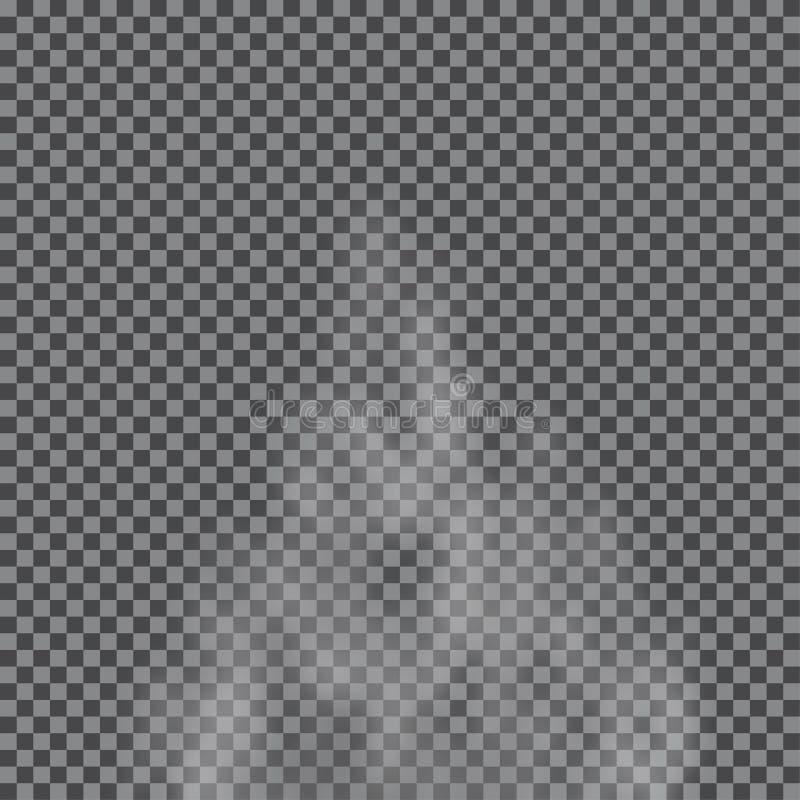 La niebla, nube, fuma efecto especial transparente stock de ilustración