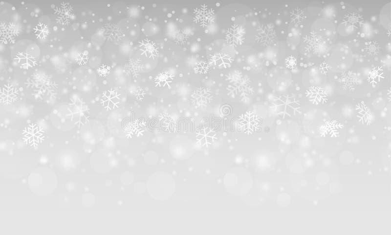 La nieve abstracta inconsútil forma escamas fondo stock de ilustración