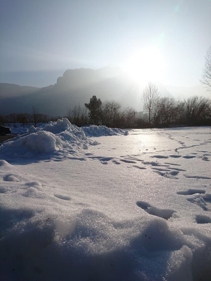 La nieve brillante imágenes de archivo libres de regalías