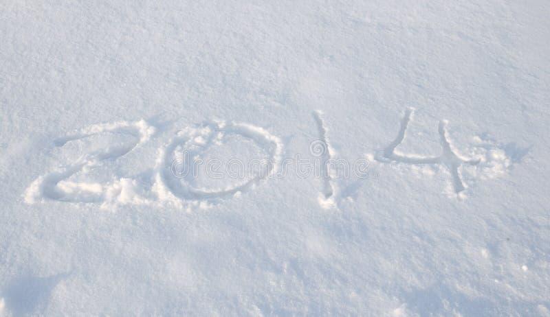 La Nieve De 2014 Fotos de archivo