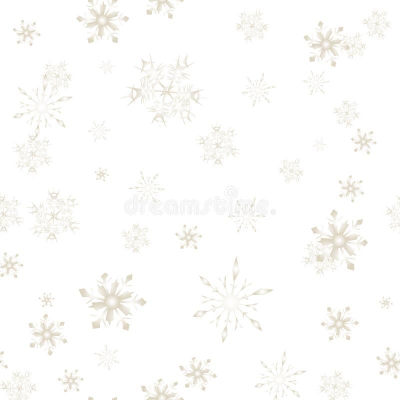 La nieve de la Navidad forma escamas modelo inconsútil aislado stock de ilustración