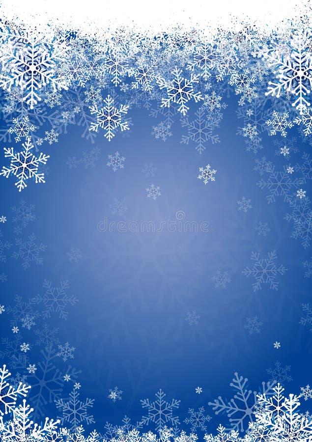 La nieve forma escamas azul imagen de archivo
