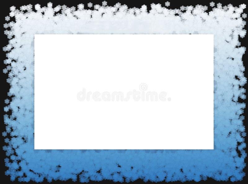 La nieve forma escamas el marco 2 libre illustration