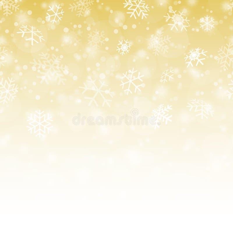 La nieve inconsútil forma escamas fondo stock de ilustración