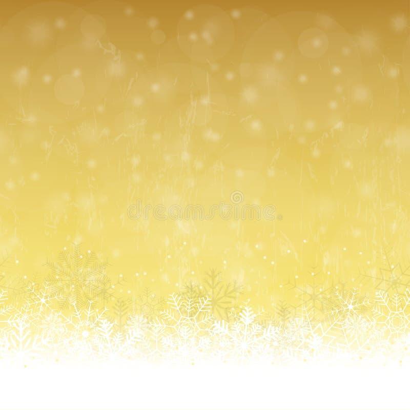 La nieve inconsútil forma escamas fondo ilustración del vector