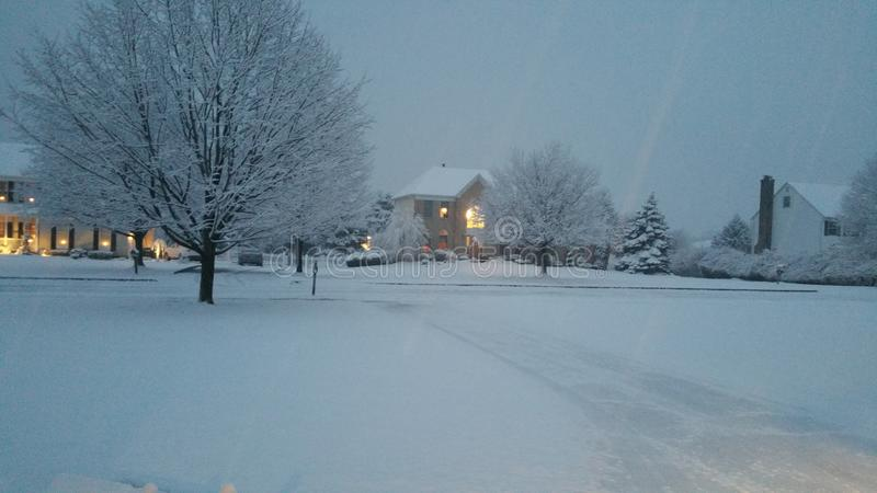 La nieve pasada en New Jersey imagen de archivo