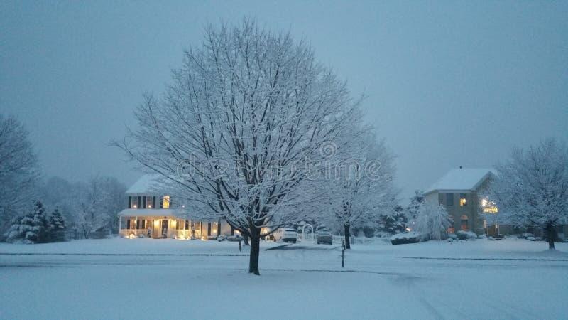 La nieve pasada en New Jersey foto de archivo libre de regalías