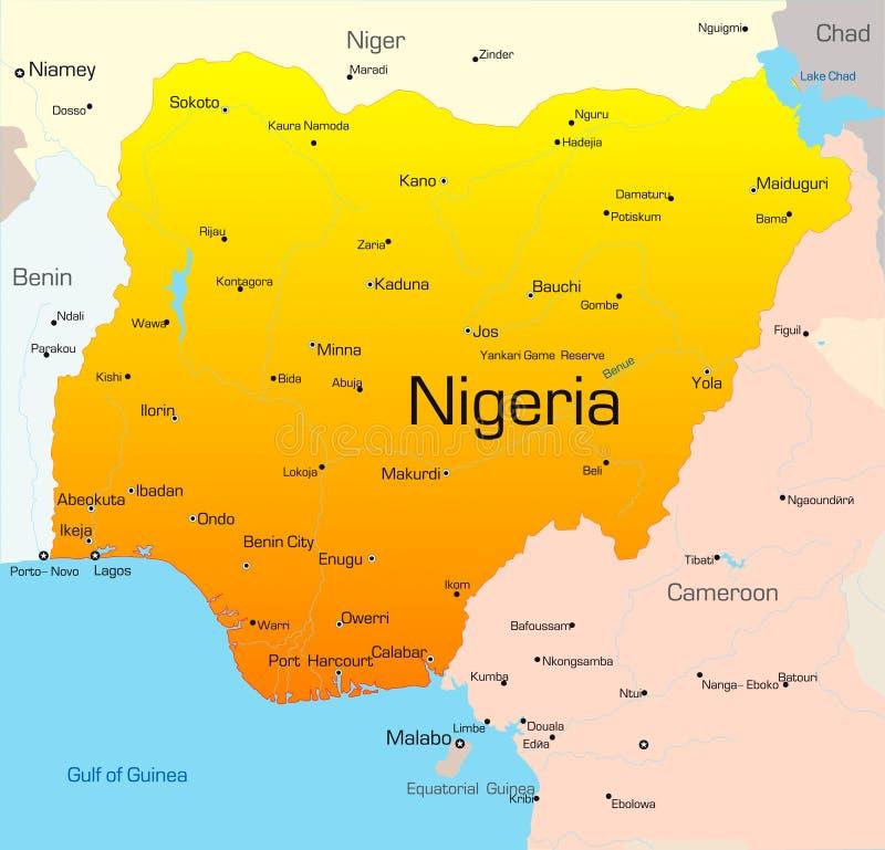La Nigeria illustrazione di stock