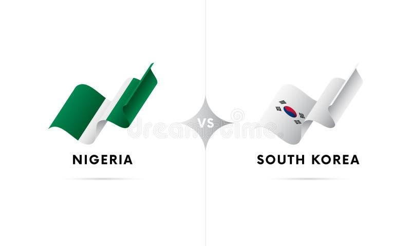 La Nigeria contro la Corea del Sud Calcio Illustrazione di vettore royalty illustrazione gratis